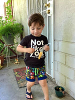 Little Viking Boy Shorties size 5/6 RTS  - Spring Summer Shorts Play Ready to Ship
