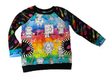 Little Artists Watercolor Long Sleeve Raglan Shirt * RTS Size 12-18 Months, 2/3, 6 and 7/8 only! * Handmade Rainbow Pocket