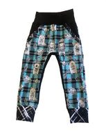 Hipster Hearts Plaid Pocket Joggers - Ready to Ship sizes 2/3 and 4/5 Only - 1 each! Handmade Valentines