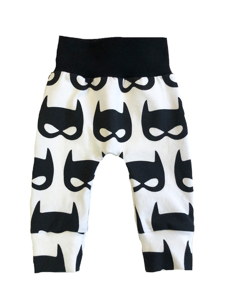 Batman Slim Joggers - Size 0-3 Months Infant Baby - Ready To Ship - Superhero Gift Shower Handmade