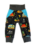 Camping Trip Pocket Joggers - Ready to Ship 3/4 Only -  Handmade Outdoors Camp Forest