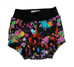 Paint Splatter Bummies - Sizes 2 & 3 - Ready to Ship! Summer Colorful Rainbow Spring Shorts