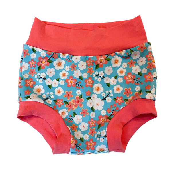 Cherry Blossom Floral Bummies - Size 2  - Ready to Ship! Last Pair! Summer Colorful Spring Shorts