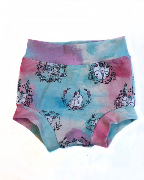 Pastel Watercolor Animals Knit Bummies Size 12-18 Months - Ready to Ship Summer Spring