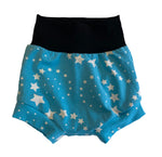 Sky Blue Shooting Star Boy Shorties size 6-9 Months  RTS  - Spring Stars Summer Shorts Outside Ready to Ship