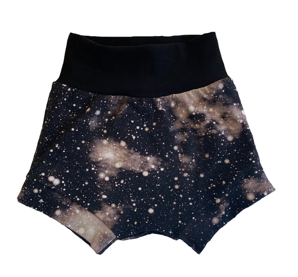 Galaxy Monochrome Boy Shorties size 3/4  RTS  - Spring Summer Shorts Stars Ready to Ship