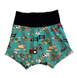 Country Life Boy Shorties size 4/5 RTS  - Spring Farm Animals Shorts Ready to Ship