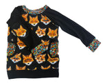 Feelin' Foxy Raglan Long Sleeve Shirt Size 6-12 Months RTS  - Ready to Ship - Elbow Patch Shirt Holiday Fall Winter