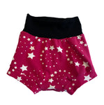 Hot Pink Shooting Star Boy Shorties size 2/3 RTS  - Spring Stars Summer Shorts Outside Ready to Ship