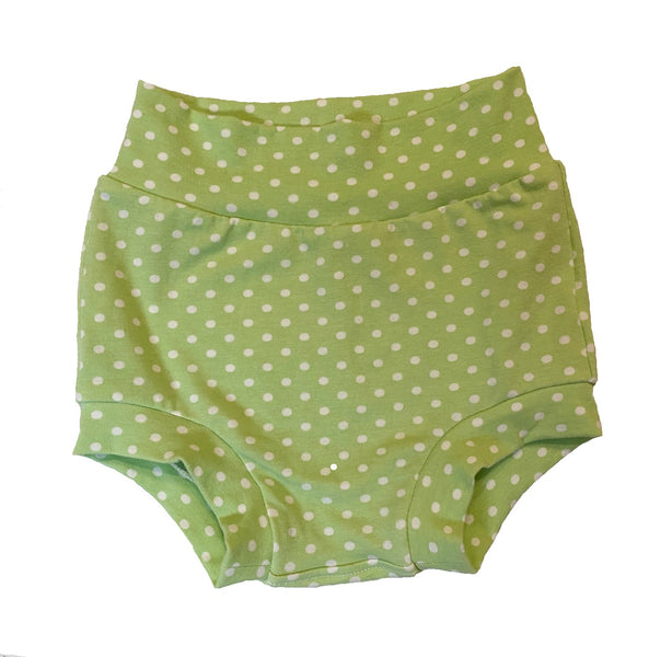 Mint Polka Dot Bummies, Size 2  - Ready to Ship!  Summer Retro Shorts