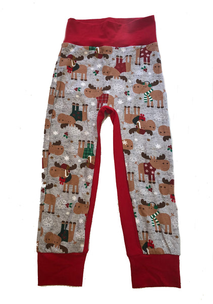 Holiday Moose Joggers Size 5/6 - Ready to Ship!