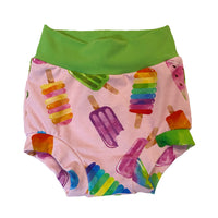 Watercolor Popsicle Bummies - Size 3 Ready To Ship! - Summer Spring Shorts Ice Cream
