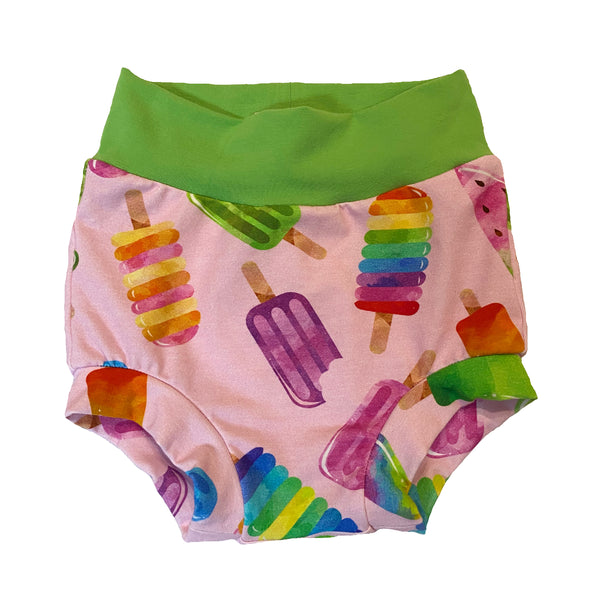 Watercolor Popsicle Bummies - Size 2 Ready To Ship! - Summer Spring Shorts Ice Cream