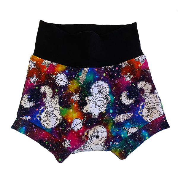 Galaxy Unicorn Rainbow Boy Shorties size 5/6 RTS  - Spring Summer Shorts Stars Ready to Ship