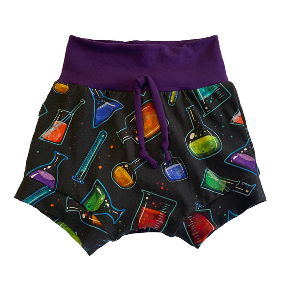 So Scientific Boy Shorties size 18-24 Months RTS  - Spring Science Stem Summer Shorts Beakers Party Ready to Ship