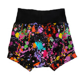 Splatter Paint Rainbow Boy Shorties size 5/6 RTS  - Spring Summer Shorts Painter Ready to Ship