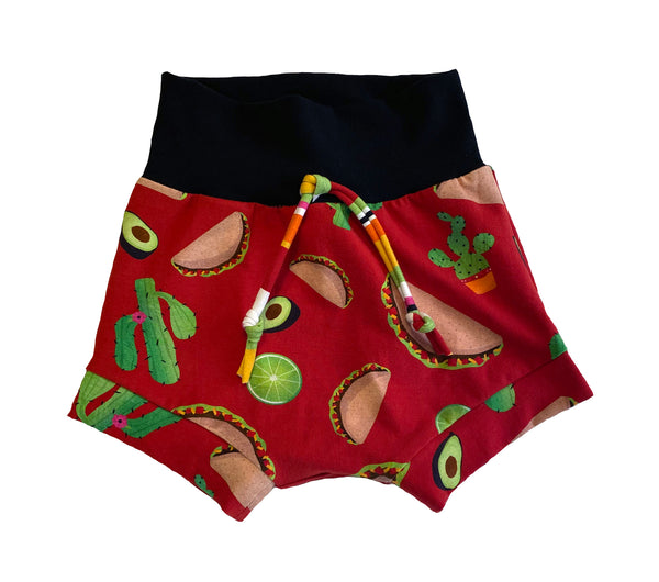 Taco Time Boy Shorties size 4/5  RTS  - Spring Tacos Summer Shorts Cactus Lime Ready to Ship
