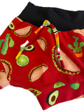 Taco Time Boy Shorties size 18-24 Months  RTS  - Spring Tacos Summer Shorts Cactus Lime Ready to Ship