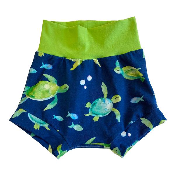 Sea Turtle Boy Shorties size 18-24 Months - Spring Summer Shorts Ocean RTS Ready to Ship Beach Vacation