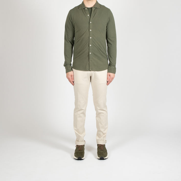 LUXURY SHORT PEACOAT ARMY