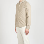 TELA SMERIGLIATA OVERSHIRT WITH ZIP WHITE