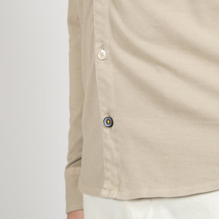 MILANO GOOSE EYE COTTON TROUSER BEIGE