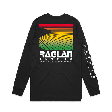 Raglan Surf Co Block Rasta Long Sleeve