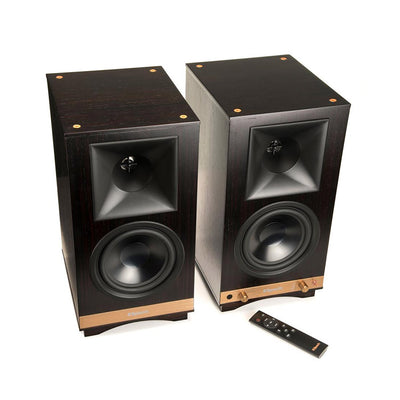 Klipsch Heritage The Sixes Wireless Active Bluetooth Speakers in ebony with remote