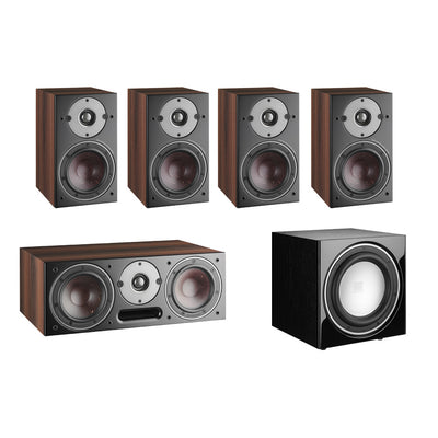 Dali Oberon 1 5.1 Speaker Package with E-9F Subwoofer in walnut