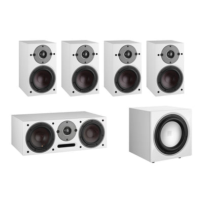 Dali Oberon 1 5.1 Speaker Package with E-9F Subwoofer in white