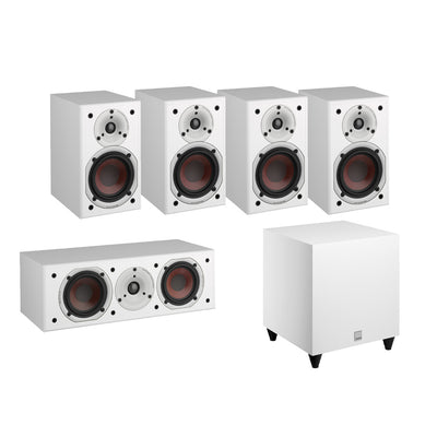 Dali Spektor 1 5.1 Speaker Package with C-8 D Subwoofer in white