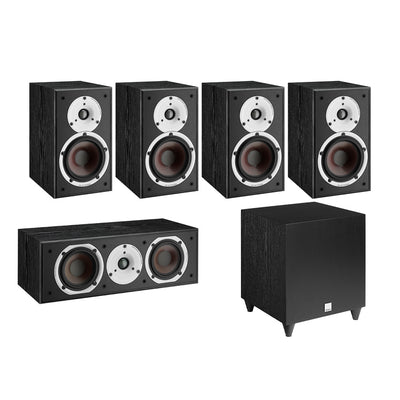 Dali Spektor 2 5.1 Speaker Package with C-8 D Subwoofer in black