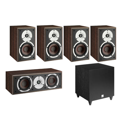 Dali Spektor 2 5.1 Speaker Package with C-8 D Subwoofer in walnut