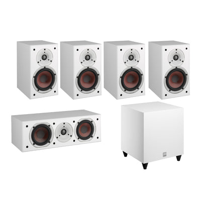 Dali Spektor 2 5.1 Speaker Package with C-8 D Subwoofer in white