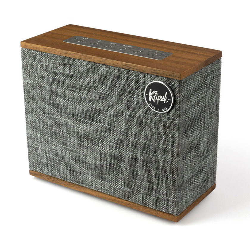 Klipsch Heritage Groove | Wireless Bluetooth Speaker in walnut from SpatialOnline