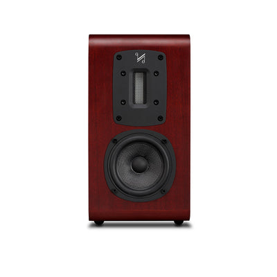 Quad S-1 Ribbon Bookshelf Speaker in mahogany