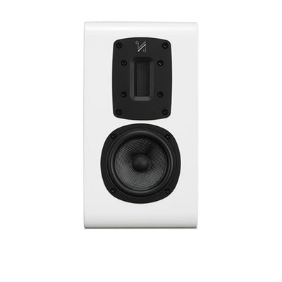 Quad S-1 Ribbon Bookshelf Speaker in white gloss
