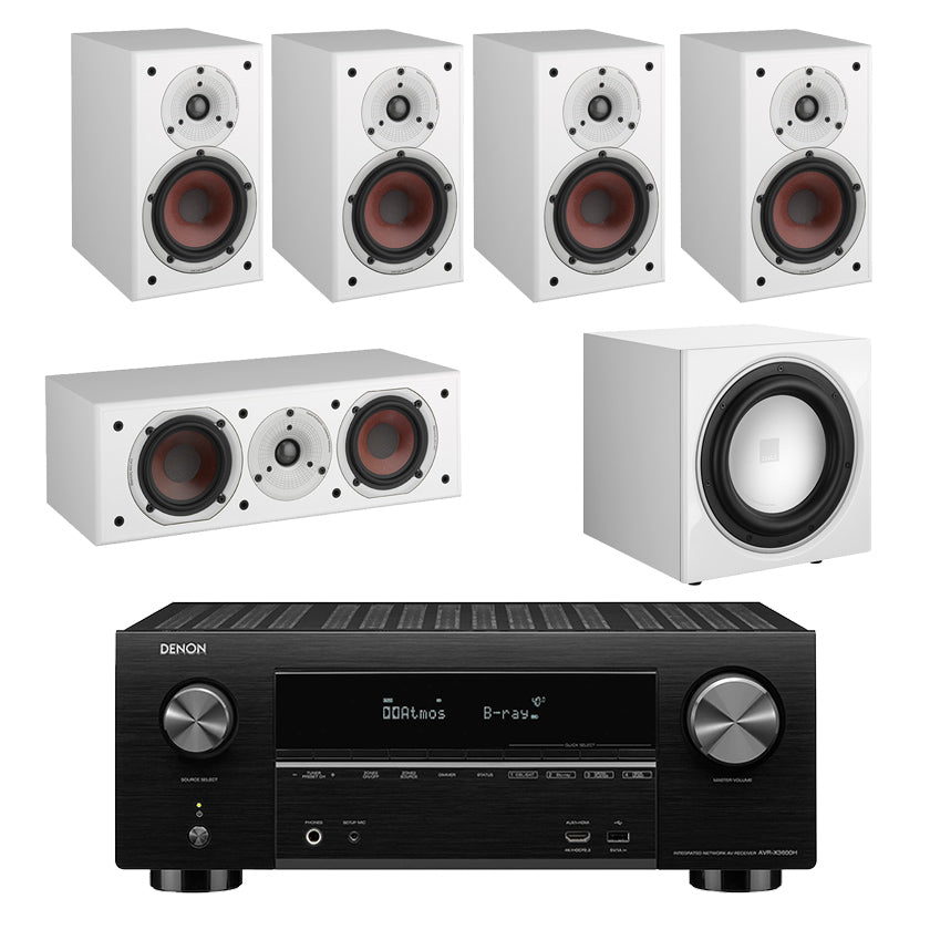 Denon AVR-X3600H AV Receiver With Dali Spektor 2 5.1 Speaker Package