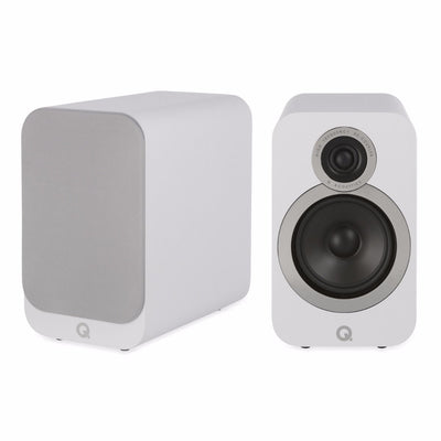 Q Acoustics 3020i Bookshelf Speakers in arctic white