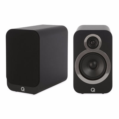 Q Acoustics 3020i Bookshelf Speakers in carbon black