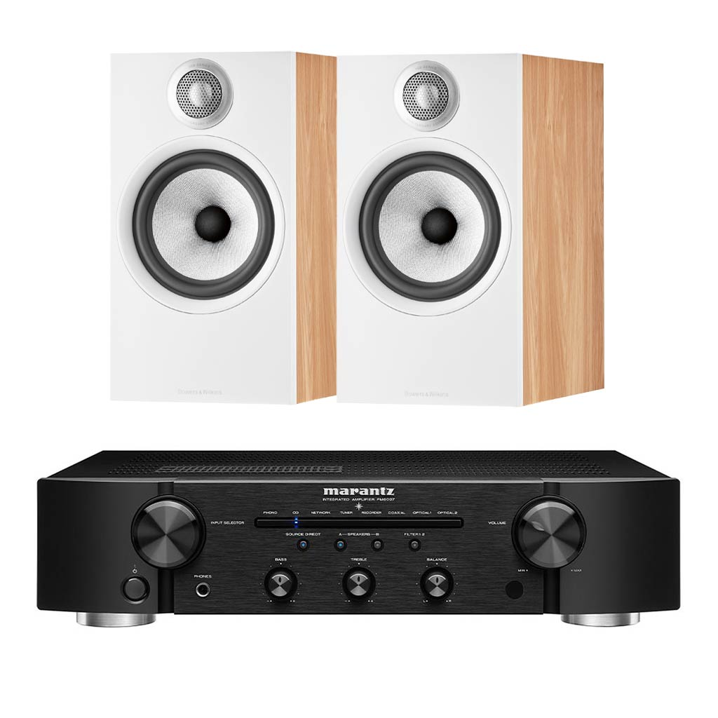 Marantz PM6007 - Bowers & Wilkins 606 S2 Bookshelf Speakers