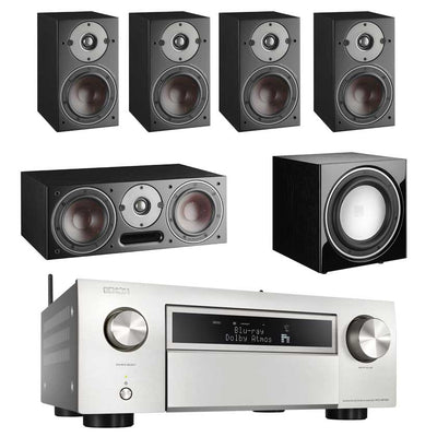 Denon AVC-X6700H 8K AV Amplifier With Dali Oberon 1 5.1 Speaker Package Dali E9F Subwoofer