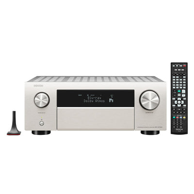 DENON AVC-X4700H 9.2ch 8K AV amplifier silver with remote control