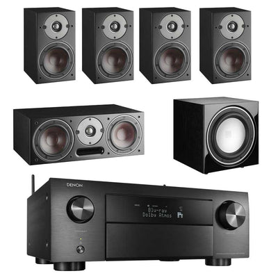 Denon AVC-X4700H 8K AV Receiver With Dali Oberon 1 5.1 Speaker Package and Dali E9F Subwoofer