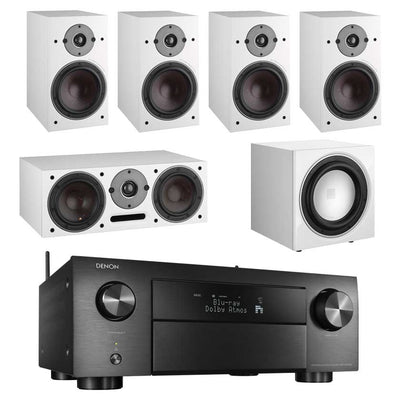 Denon AVC-X4500H 8K AV Receiver With Dali Oberon 3 5.1 Speaker Package and Dali E9F Subwoofer
