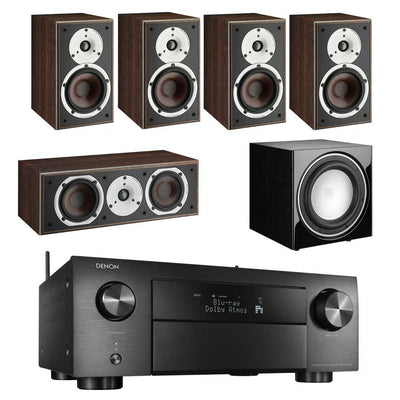 Denon AVC-X4700H 8K AV Amplifier With Dali Spektor 2 5.1 Speaker Package Dali E9F Subwoofer