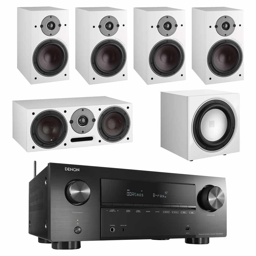 Denon AVR-X2700H 8K AV Receiver With Dali Oberon 3 5.1 Speaker Package