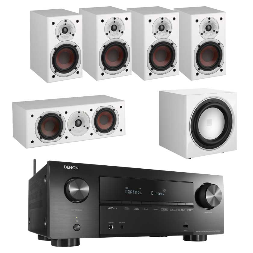 Denon AVR-X2700H 8K AV Receiver With Dali Spektor 1 5.1 Speaker Package