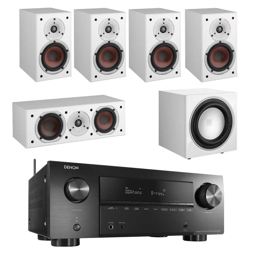 Denon AVR-X2700H 8K AV Receiver With Dali Spektor 2 5.1 Speaker Package