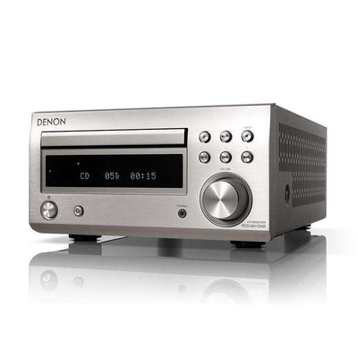 DENON D-M41 DAB Micro System With Bluetooth - Silver - Call SpatialOnline 0345 557 7334
